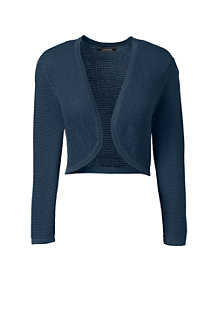 Women's Supima 3-Quarter Sleeve Pointelle Bolero
