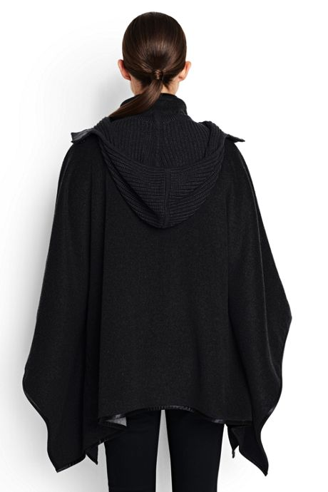 Women's Double Faced Wool Poncho