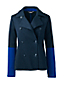 Women's Regular Jacquard Jersey Peacoat