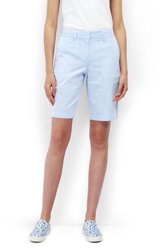 Women's Seersucker Bermuda Shorts