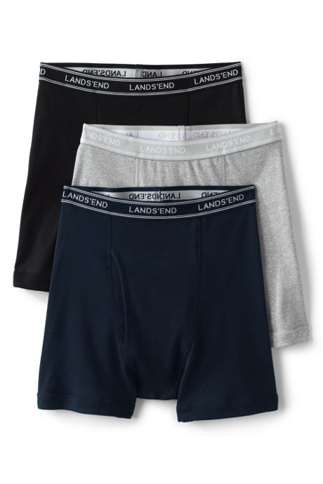 Men's Knit Underwear Mixed Color 3 Pack - Boxer Briefs