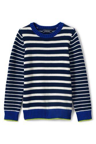 Boys' Mixed Stripe Cotton Jumper