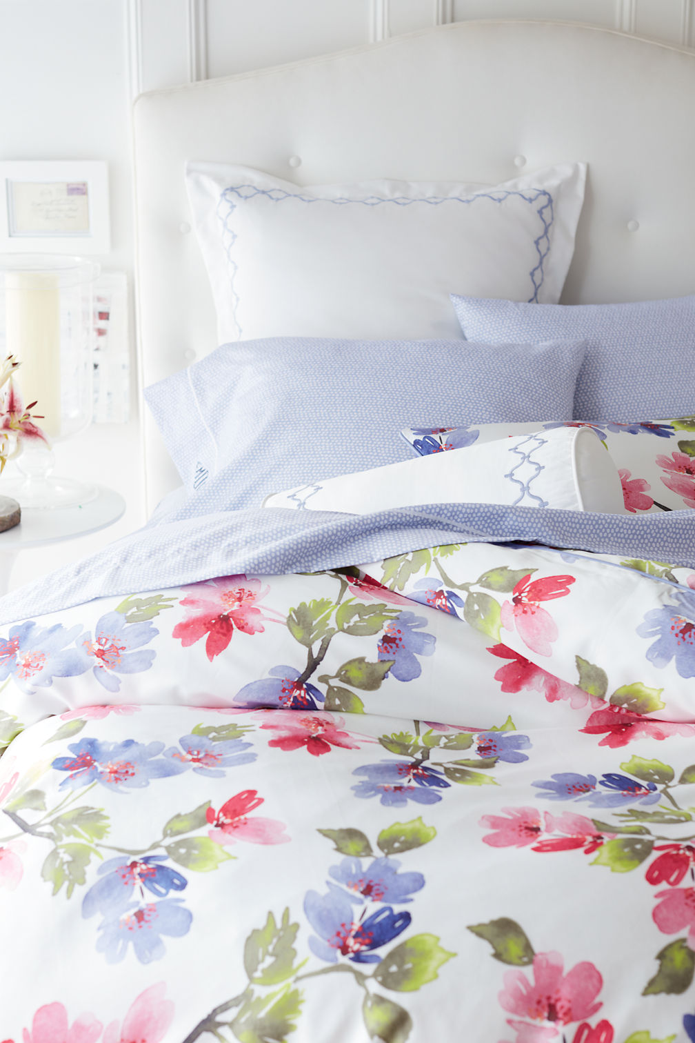no iron supima floral duvet cover. no iron supima floral duvet cover and sham from lands' end