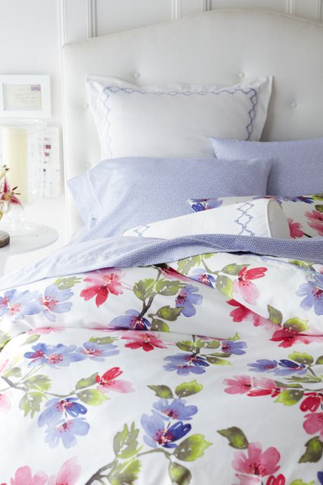 No Iron Supima Floral Duvet Cover