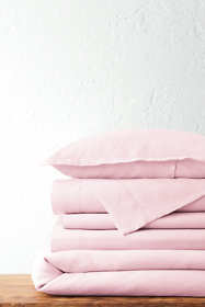Garment Washed Linen Solid Duvet Cover