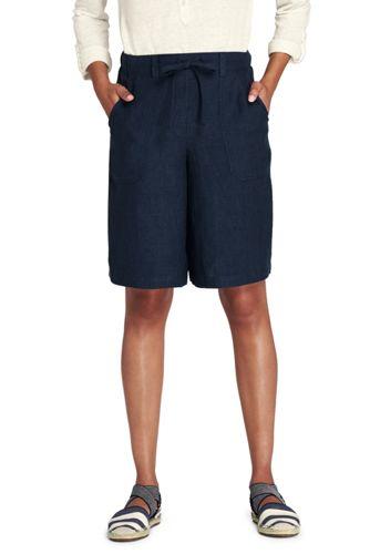 Le Bermuda Jupe-Culotte en Lin, Femme Grande Taille
