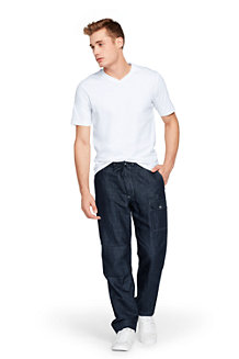 Men's  Linen/Cotton Cargo Trousers