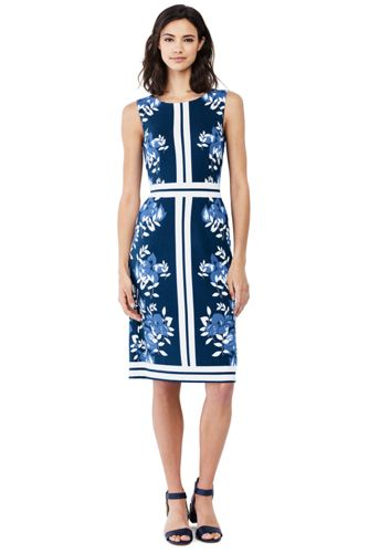 Women's Sleeveless Ponte Sheath Dress from Lands' End