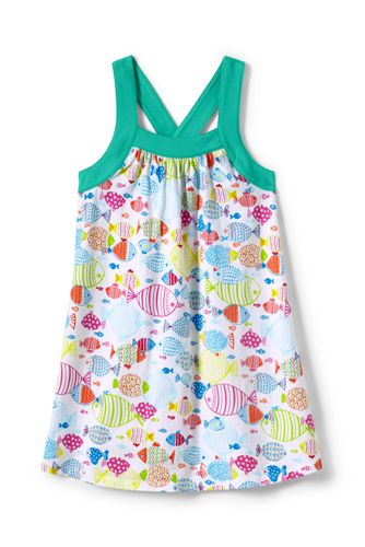 Little Girls' Crossover Back Legging Top