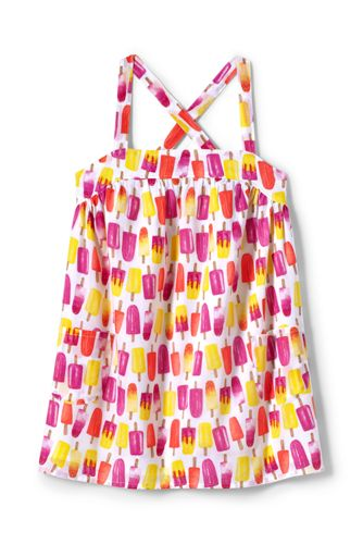 Little Girls' Strappy Smock Top