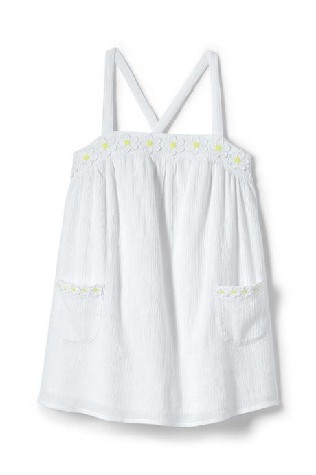 Little Girls Woven Strappy Tank