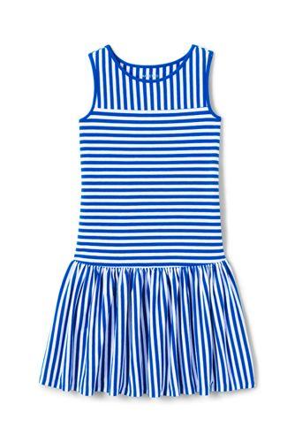 Toddler Girls' Drop Waist Striped Sleeveless Jersey Dress