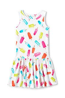 Girls' Drop Waist Sleeveless Jersey Dress