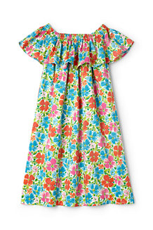 Girls' Off The Shoulder Smocked Dress
