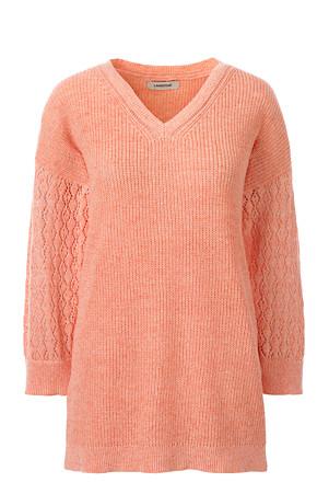 new concept 173fe 6bbdb Leinen/Baumwoll-Pullover mit Pointelle-Muster für Damen ...