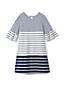 Little Girls' Bell Sleeve Ponte Dress