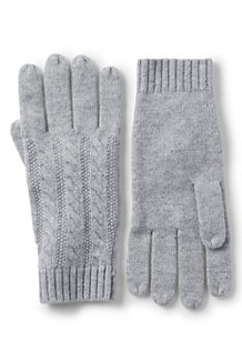 Women's Cashmere Cable Gloves