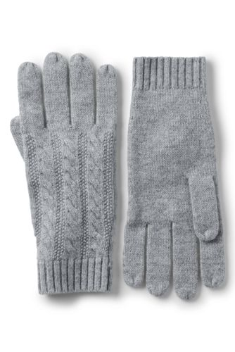Women's Cashmere Cable Knit Gloves