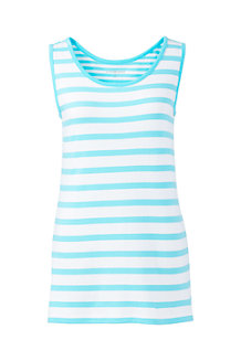 Womens' Cotton Stripe Vest Top