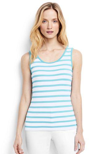 Womens' Cotton Stripe Vest Top