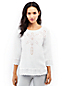 Women's Regular Linen Broderie Anglaise Blouse