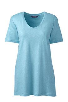 Le T-Shirt en Lin et Coton Couleur Métallisée, Femme