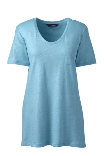 Le T-Shirt en Lin et Coton Couleur Métallisée, Femme Stature Standard