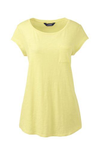 Le T-Shirt Asymétrique en Coton Modal, Femme Stature Standard