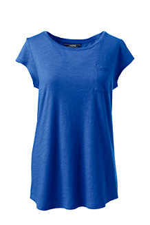 Women's Slub jersey Pocket Tee