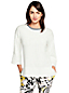 Women's Elbow Sleeve Crew Neck Jumper