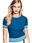 Le T-Shirt en Coton Mélangé à Manches Courtes, Femme Stature Standard