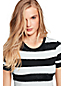 Women's Short Sleeve Painted Striped T-shirt
