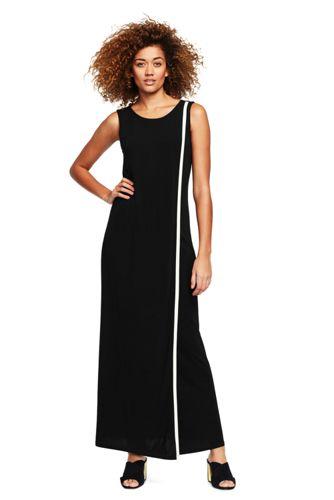 La Longue Robe Fluide Sans Manches, Femme Stature Standard
