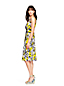 La Robe Bi-Matière Plissée Fleurie, Femme Stature Standard