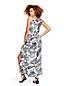 Women's Print Silk Georgette Maxi Dress