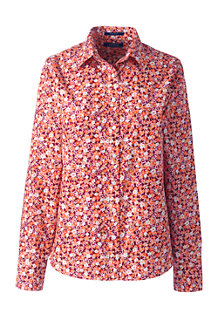 Women's Long Sleeve Classic Fit Print Non-iron Supima Shirt