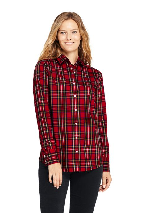 Women's Tall No Iron Supima Cotton Long Sleeve Shirt