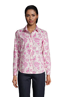 Women's Long Sleeve Classic Fit Print Non-iron Supima Shirt