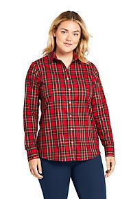 67a668114e Women s Plus Size Supima Cotton No Iron Shirt