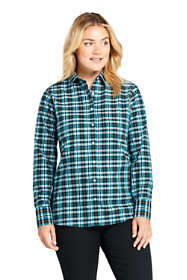 Women's Plus Size No Iron Supima Cotton Long Sleeve Shirt
