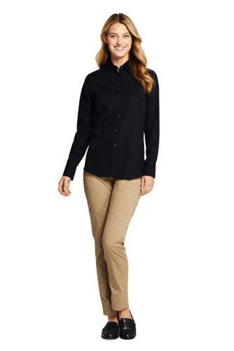 Women's Petite No Iron Supima Cotton Long Sleeve Shirt