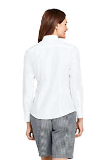Women's No Iron Supima Cotton Long Sleeve Shirt, Back