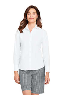 Women's Tall No Iron Supima Cotton Long Sleeve Shirt, Front