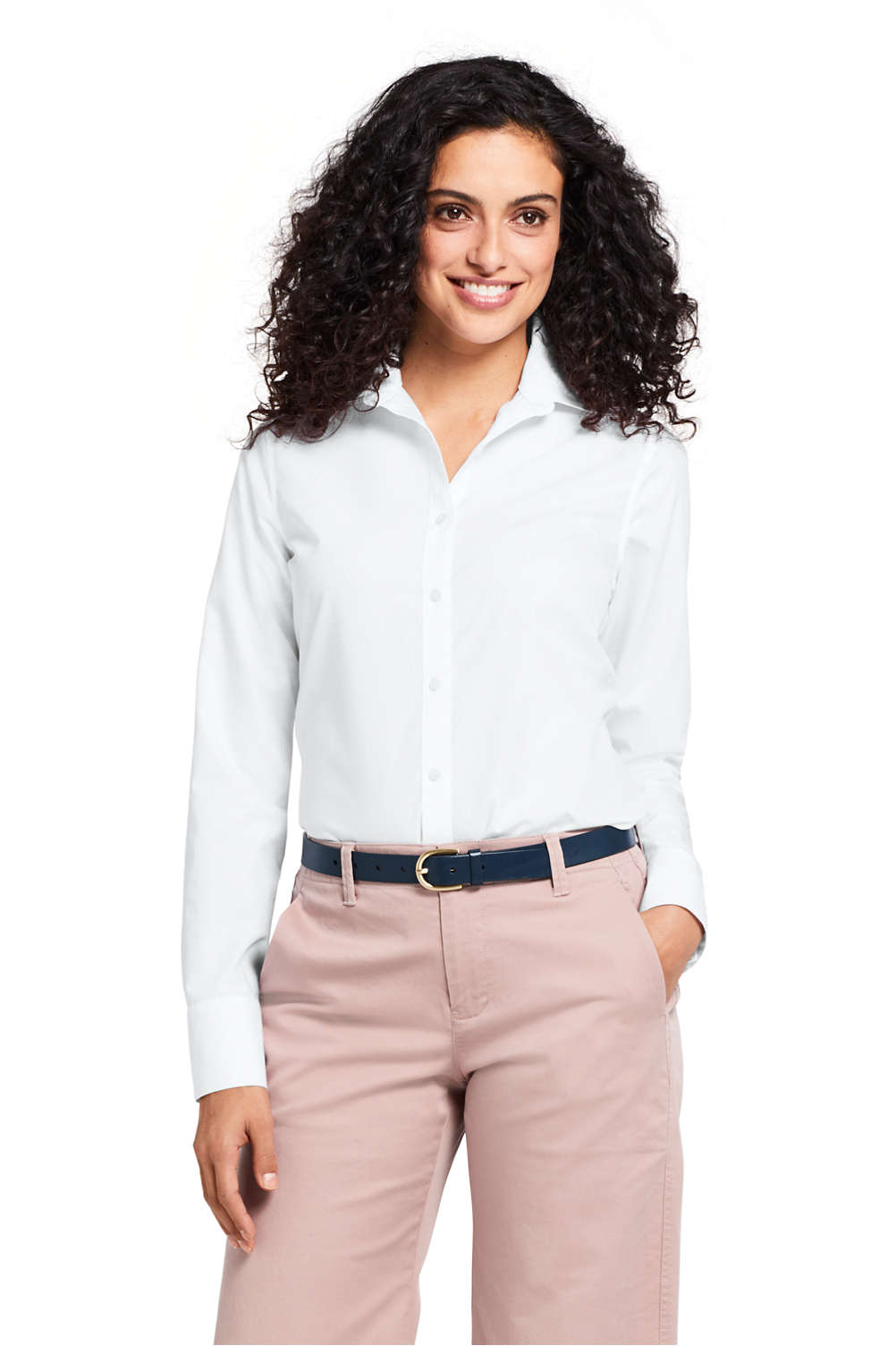 Womens Supima Cotton No Iron Shirt From Lands End