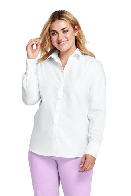 Women's Plus Size Supima Cotton No Iron Shirt