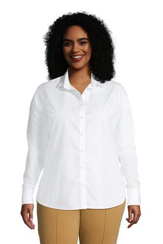 Women's Plus Size No Iron Supima Cotton Long Sleeve Shirt
