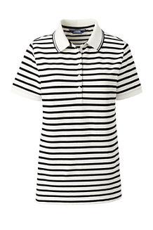 Women's  Short Sleeve Stripe Piqué Polo