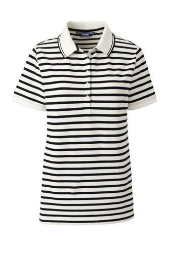 Women's Regular Short Sleeve Stripe Piqué Polo