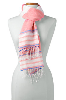 Women's Variegated Stripe Linen Scarf