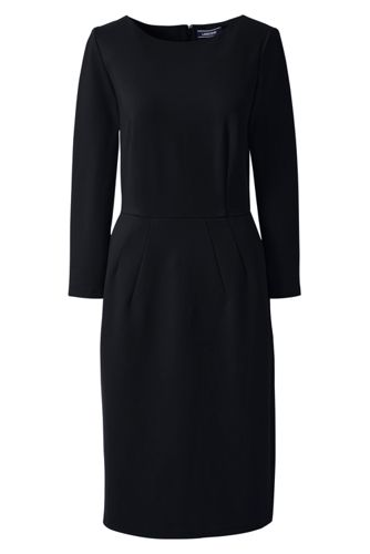 Women's Regular Ponte Jersey Darted Dress